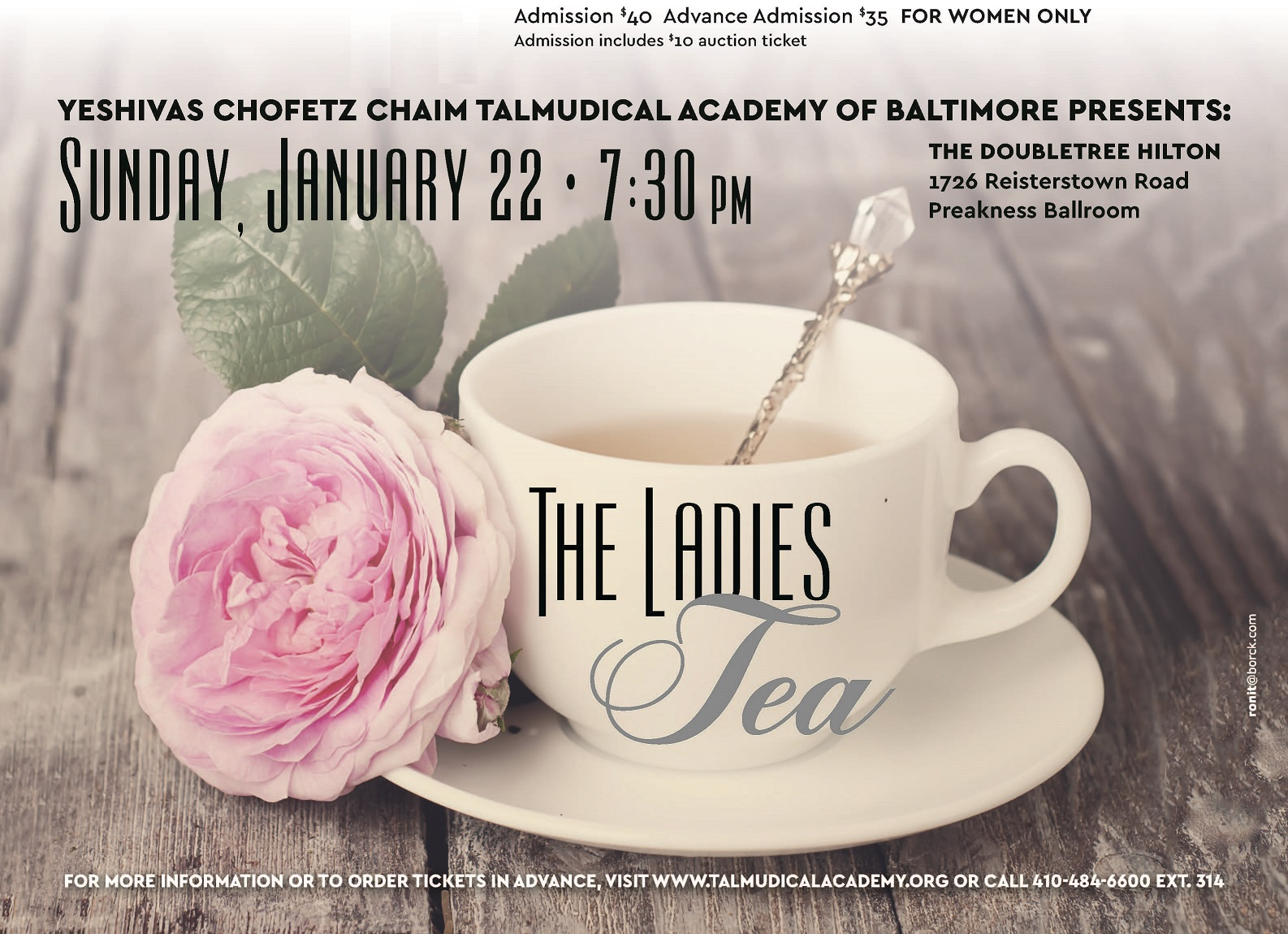 Ladies Tea & Chinese Auction
